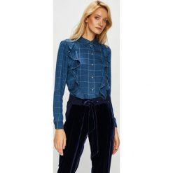 Only - Koszula Izzy. Niebieskie koszule damskie Only, w kratkę, z lyocellu, casualowe, z klasycznym kołnierzykiem, z długim rękawem. Za 169.90 zł.