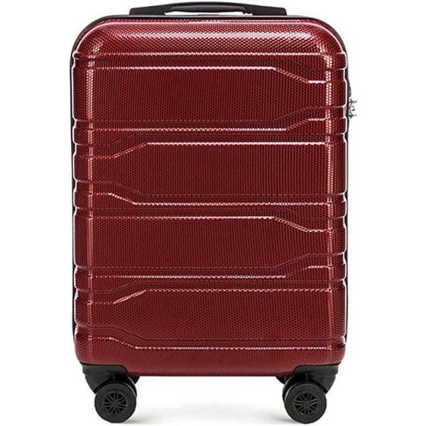 ffdbc986bba51 Walizka w kolorze bordowym - 32 l - Czerwone walizki męskie marki ...