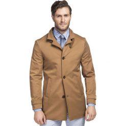 Płaszcz FLORIANO PSKS000063. Brązowe płaszcze męskie Giacomo Conti, z tkaniny. Za 699.00 zł.