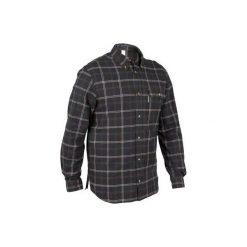 Koszula myśliwska 100. Czarne koszule męskie SOLOGNAC, z długim rękawem. Za 79.99 zł.