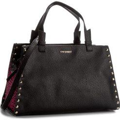 Torebka TWINSET - Bauletto Medio AA7PC7 St.Mico 00955. Czarne torebki do ręki damskie Twinset, ze skóry. W wyprzedaży za 849.00 zł.