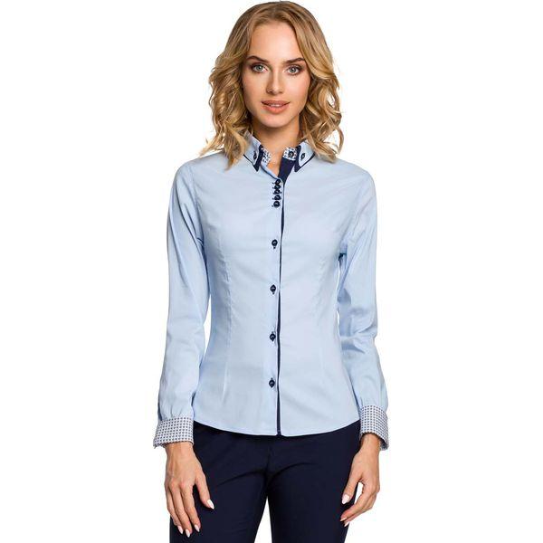 Klasyczna Podwójnym Błękitna Koszule Z Koszula Kołnierzykiem rstQCxdh