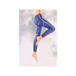 Legginsy granatowe. Niebieskie legginsy damskie Manifesto art clothes, z tkaniny. Za 119.00 zł.