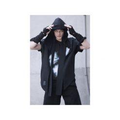 Ręcznie farbowany t-shirt SHIBORI. Czarne t-shirty męskie Pikiel, z bawełny, z kapturem. Za 150.00 zł.