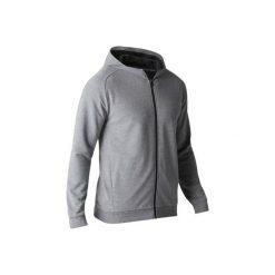 Bluza na zamek z kapturem Gym & Pilates 500 męska. Szare bluzy męskie DOMYOS. W wyprzedaży za 49.99 zł.