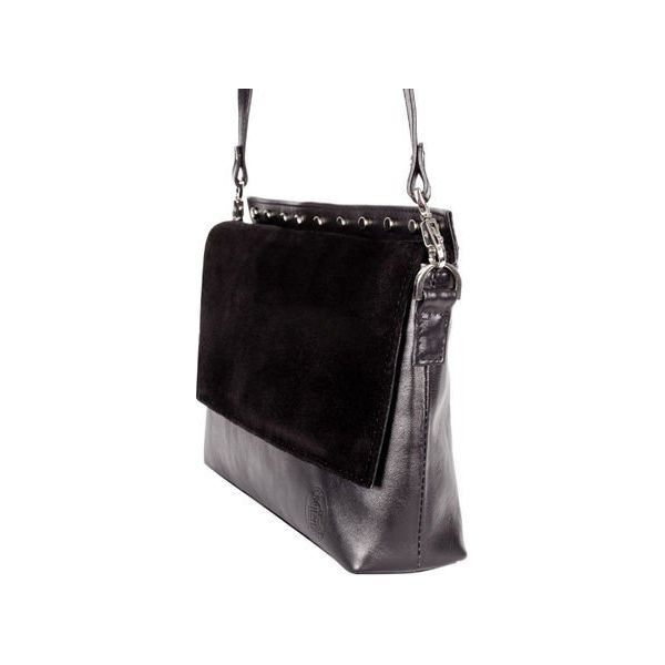 d8a8263ada6f5 Elegancka czarna torebka szyta ręcznie z naturalnej skóry ...