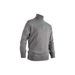 Sweter wiatroszczelny do golfa. Niebieskie swetry przez głowę męskie INESIS, z golfem. Za 94.99 zł.