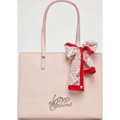 Love Moschino - Torebka. Szare torby na ramię damskie Love Moschino. Za 799.90 zł.