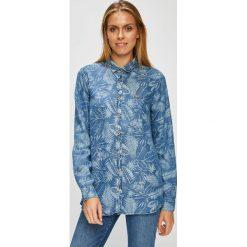 U.S. Polo - Koszula. Niebieskie koszule damskie U.S. Polo, z lyocellu, casualowe, z włoskim kołnierzykiem, z długim rękawem. W wyprzedaży za 399.90 zł.