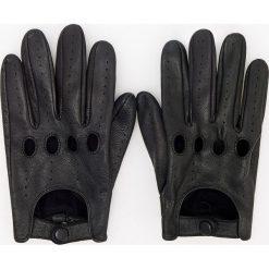 Rękawiczki skórzane - Czarny. Rękawiczki męskie marki FOUGANZA. W wyprzedaży za 79.99 zł.