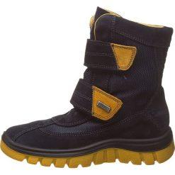 """Kozaki zimowe """"Bazena"""" w kolorze granatowym. Buty zimowe chłopięce marki Geox. W wyprzedaży za 215.95 zł."""