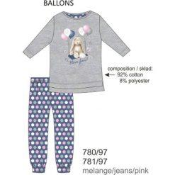 Piżama dziewczęca DR 780/97 Ballons Melanż szara r. 116. Szare bielizna dla dziewczynek Cornette, melanż. Za 51.73 zł.