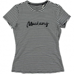 Mustang T-Shirt Damski, L, Czarny. Czarne t-shirty damskie Mustang, w paski. Za 148.00 zł.