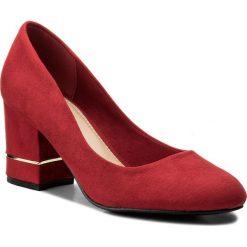 Półbuty JENNY FAIRY - LS4465-01A Czerwony. Czerwone półbuty damskie Jenny Fairy, z materiału, eleganckie. Za 89.99 zł.