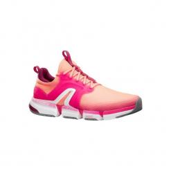 Buty damskie do szybkiego marszu PW 590 Xtense koralowe/różowe. Brązowe obuwie sportowe damskie NEWFEEL, z gumy. Za 219.99 zł.