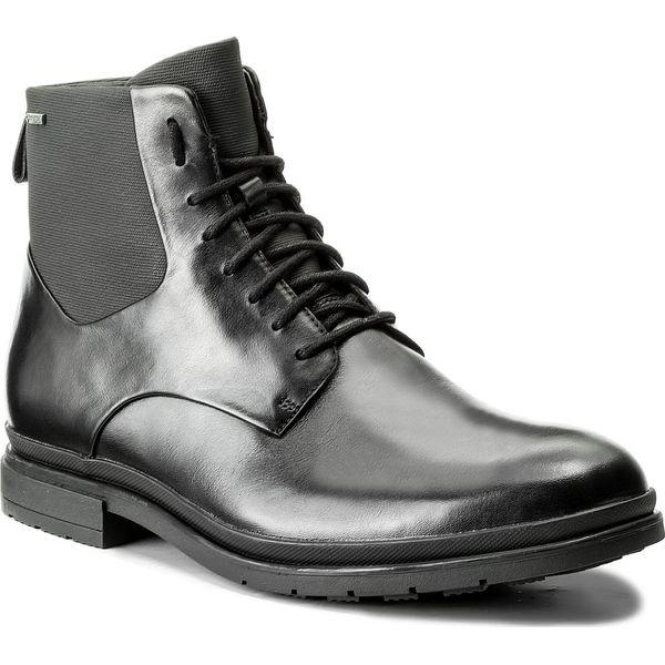 ba38b82c6325c Kozaki CLARKS - Londonpace Gtx GORE-TEX 261269287 Black Leather ...