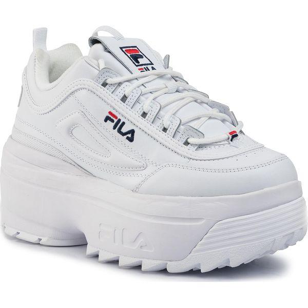 Sneakersy FILA Disruptor II Wedge Wmn 5FM00704.125 WhiteFila NavyFila Red