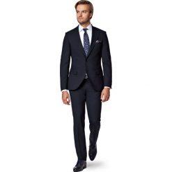 Garnitur Granatowy Modest. Niebieskie garnitury męskie LANCERTO, z bawełny. W wyprzedaży za 799.90 zł.
