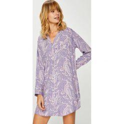 Lauren Ralph Lauren - Koszulka nocna. Szare koszule nocne damskie Lauren Ralph Lauren, z bawełny. W wyprzedaży za 319.90 zł.