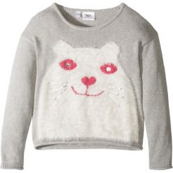 Sweter dzianinowy bonprix jasnoszary melanż. Swetry dla dziewczynek bonprix, z dzianiny. Za 32.99 zł.