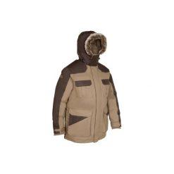 Kurtka myśliwska zimowa męska TOUNDRA 300. Brązowe kurtki męskie SOLOGNAC, na zimę. Za 399.99 zł.