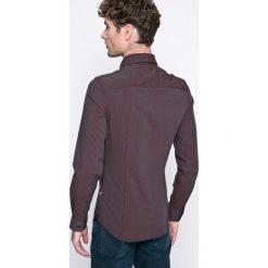 Guess Jeans - Koszula. Czarne koszule męskie Guess Jeans, w kratkę, z bawełny, z klasycznym kołnierzykiem, z długim rękawem. W wyprzedaży za 179.90 zł.