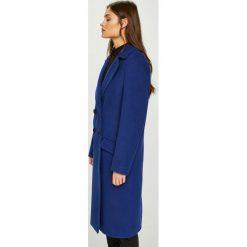 Answear - Płaszcz Watch Me. Niebieskie płaszcze damskie ANSWEAR, z elastanu. W wyprzedaży za 279.90 zł.