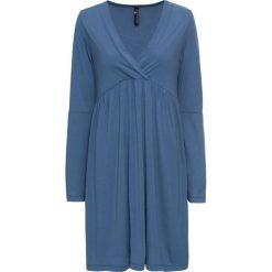 Sukienka bonprix niebieski dżins. Niebieskie sukienki damskie bonprix, z dekoltem w serek. Za 49.99 zł.