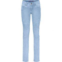 """Dżinsy SKINNY ze szwami dzielącymi bonprix jasnoniebieski """"bleached"""". Niebieskie jeansy damskie bonprix. Za 89.99 zł."""