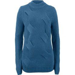 Sweter  w warkocze bonprix jasny indygo. Swetry damskie marki KALENJI. Za 69.99 zł.