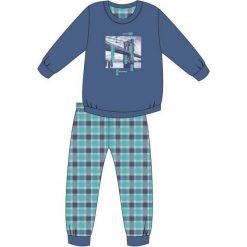 Piżama Young Boy 966/81 Bridge niebieska r. 140. Niebieskie bielizna dla chłopców Cornette. Za 59.64 zł.
