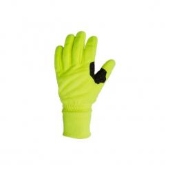 Rękawiczki Na Rower 300 Długie Zimowe Polarowe Żółte B'twin. Żółte rękawiczki damskie B'TWIN, na zimę, z elastanu. W wyprzedaży za 24.99 zł.