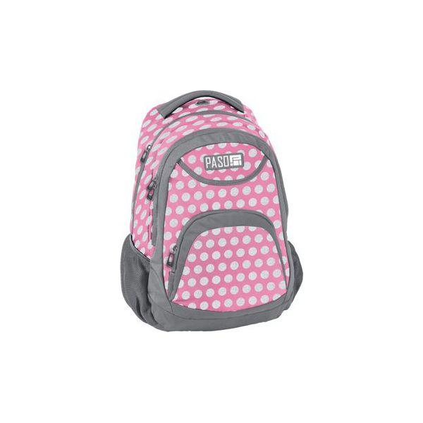 08d836e6f7d48 Plecak Szkolny Lekki Paso Różowy Kropki - Torby i plecaki dziecięce ...