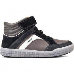 """Sneakersy """"Arzach"""" w kolorze szaro-czarnym. Czarne trampki i tenisówki chłopięce Geox Kids, z gumy. W wyprzedaży za 142.95 zł."""