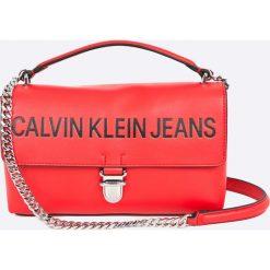 Calvin Klein - Torebka Sculpted Flap. Różowe torby na ramię damskie Calvin Klein. W wyprzedaży za 429.90 zł.