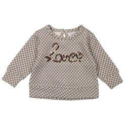 Dirkje Bluza Dziewczęca Love 98 Wielokolorowa. Szare bluzy dla dziewczynek Dirkje, z napisami. Za 69.00 zł.