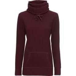 Sweter z polaru, długi rękaw bonprix czerwony klonowy - czarny w paski. Czerwone swetry damskie bonprix, z polaru. Za 89.99 zł.