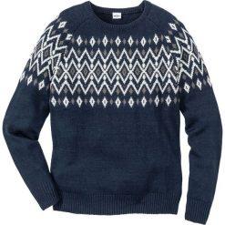 Sweter Regular Fit bonprix ciemnoniebieski. Swetry przez głowę męskie marki Giacomo Conti. Za 89.99 zł.