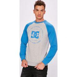 DC - Bluza. Szare bluzy męskie DC, z nadrukiem, z bawełny. W wyprzedaży za 179.90 zł.