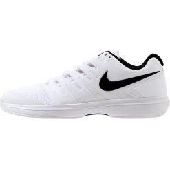 Nike Performance AIR ZOOM PRESTIGE HC Obuwie multicourt white/black. Trekkingi męskie Nike Performance, z materiału, outdoorowe. Za 419.00 zł.