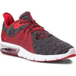 Buty NIKE - Air Max Sequent 3 921694 015 Black/University Red/White. Czerwone buty sportowe męskie Nike, z materiału. W wyprzedaży za 329.00 zł.