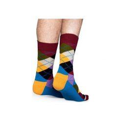Skarpetki Happy Socks  AR01-048. Czerwone skarpety męskie Happy Socks, z bawełny. Za 24.43 zł.