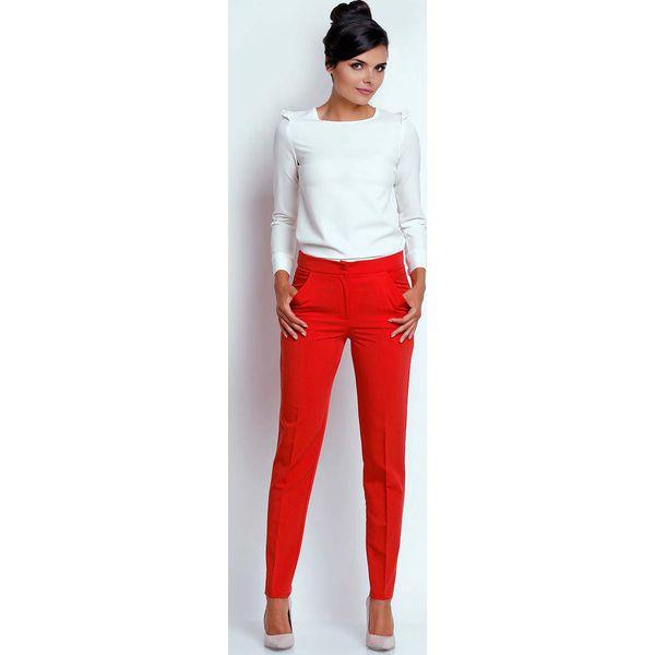 c141d008b5d337 Czerwone Eleganckie Spodnie Cygaretki - Czerwone spodnie materiałowe ...