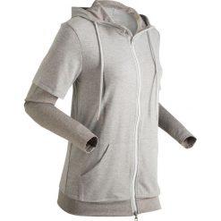 Bluza treningowa 2 w 1, długi rękaw bonprix jasnoszary melanż - szary melanż. Bluzy damskie marki KALENJI. Za 79.99 zł.