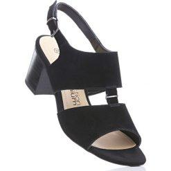 Sandały skórzane bonprix czarny. Sandały damskie marki bonprix. Za 139.99 zł.