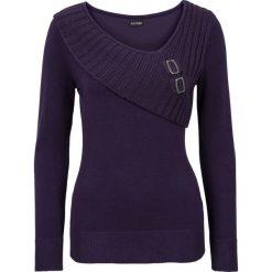 Sweter bonprix ciemny lila. Fioletowe swetry damskie bonprix, z dzianiny. Za 109.99 zł.