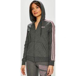 Adidas Performance - Bluza. Szare bluzy damskie adidas Performance, z bawełny. Za 229.90 zł.