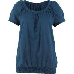 Bluzka, krótki rękaw bonprix ciemnoniebieski. Niebieskie bluzki damskie bonprix, z krótkim rękawem. Za 37.99 zł.