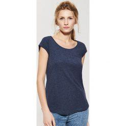 Gładki t-shirt - Granatowy. Niebieskie t-shirty damskie House. Za 17.99 zł.
