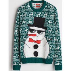 Sweter ze świątecznym motywem - Khaki. Swetry przez głowę męskie marki Giacomo Conti. W wyprzedaży za 59.99 zł.